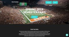 Spring 2019 Semester Dues Donation Website, Donation Page, Fundraising Page, Fundraising Websites, Delta Tau Delta, Online Donations, Event Page, City State