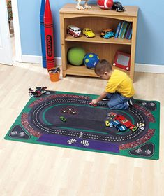 35 x 48 Kids' Activity Play Mats Farm Race Track or Doll House [SM303082-2KDM-RCT] - $25.95 : Smart Saver LLC