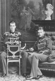 Grand Dukes Pavel and Sergei Alexandrovich, brothers of Alexander III. Although they were always close, they became inseparable from the time of Sergei's marriage to Elisabeth in 1884. When Pavel married Alexandra Georgievna in 1889, the three became four.