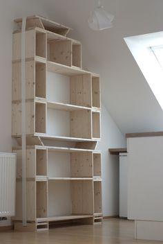 Tension Strap Bookshelves