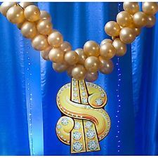 BLING BLING NECKLACE  * hip hop party decoration * photo opp. * music