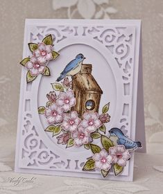 Papertrey Ink - Birds & Blooms Die Collection (set of 5): Papertreyink