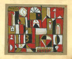 Sin título, 1947. Témpera, lápiz y tinta sobre papel, 117 x 14 cm. Gurvich.
