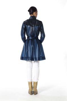Designer Raincoats: Find Designer Raincoats at TerraNewYork — Tribeca / Midnight Blue