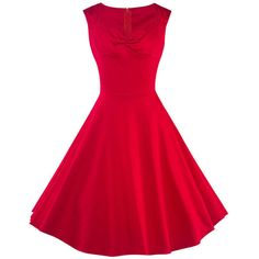 Sweet Heart Plain Pleated Bodice Skater Dress ($31) ❤ liked on Polyvore featuring dresses, sweetheart neckline skater dress, sweetheart skater dress, red dress, sweetheart neck dress and red pleated dress