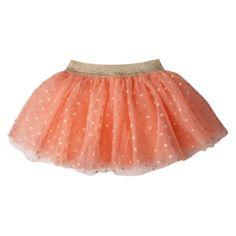 Cherokee® Infant Toddler Girls' Tulle Skirt - Orange/Gold