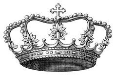 Vintage French Crown Transfer