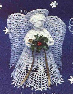En stor heklet engel - hekleoppskrift (katerina)