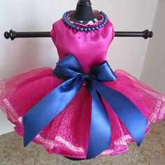 Hot Pink With Pearls Dog Dress