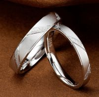 Fashion Men Women Jane Love 925 Sterling Silver Couple Rings Lovers Wedding Band His and Her Promise Ring - 8.5# / 7# / as photo
