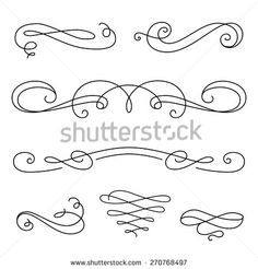 stock-vector-vintage-vignettes-page-decoration-template-set-of-calligraphic-decorative-design-elements-in-270768497.jpg (450×470)