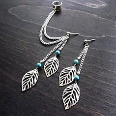 shixin® φούντες φύλλο μόδας κράμα κόσμημα σκουλαρίκι στηριγμ... – EUR € 2.79