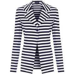 St. John Milano Stripe Jacket ($1,535) ❤ liked on Polyvore