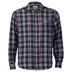 Keep your wardrobe on trend with the flannel shirt. Featuring a single pocket design, front button closure and collar. Team it with black jeans to complete your look.