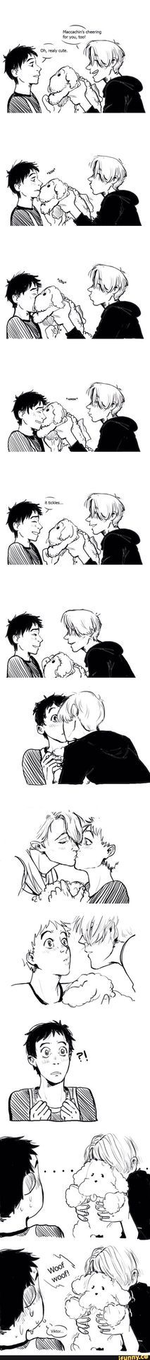 #wattpad #fanfiction Viktor finds out about Yuri's last dogs death and decides to get him a new one.