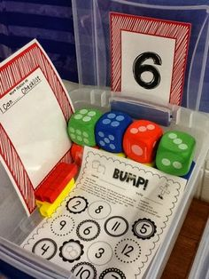Great ideas for math rotations and an organization system for all the materials.