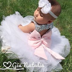 """What a beautiful flower girl! Gia rocked our Princess Kate Dress   To order go to: ittybittytoes.com (search """"Kate"""")"""