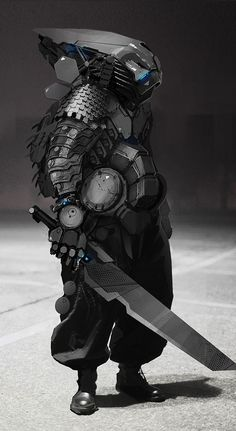 Mech Samurai Warrior -- this is exactly the right type of heavy armor on New Earth!!
