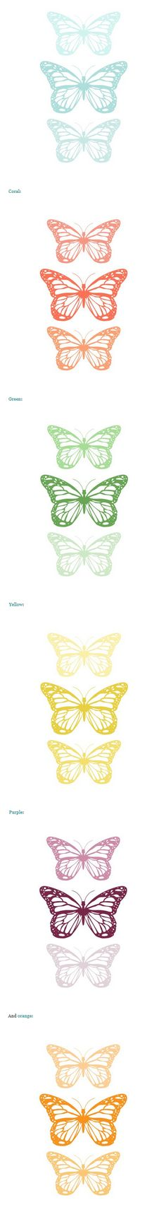 Free printable butterflies from Our Humble Abode. Good for butterfly wreath Butterfly Images, Butterfly Crafts, Paper Art, Paper Crafts, Butterfly Birthday Party, Clip Art, Freebies, Planner, Free Prints