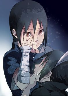 "Itachi & Sasuke. ""NIi-San.. Your eyes..!"""
