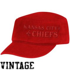 Reebok Kansas City Chiefs Ladies Red Tonal Vintage Military Hat $20