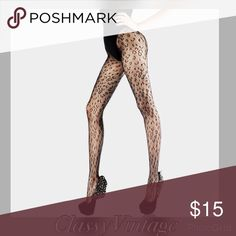 """Leopard pattern net pantyhose Hot little leopard pattern net hose. Elastic waist and sheer pattern top to bottom. This fit sizes 0 - 12, 4'9"""" to 5'11"""" and 90 to 175 pounds.80% nylon and 20% spandex. Cool Cat Accessories Hosiery & Socks"""