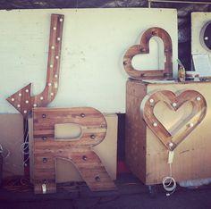 flea market marquee letters