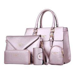 Famous Brand Women Handbag Shoulder Bags 5 Pieces Female Bolsas Feminina Bag Set Composite Tote Bag