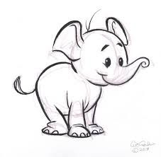 Afbeeldingsresultaat voor elephant baby drawing