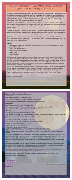 Full Moon, Super moon & Harvest Moon w/ total Lunar Eclipse September 27, 2015 @ 8:50 pm Mountain Time