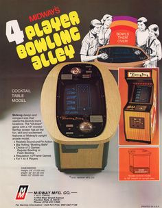 4-Player Bowling Alley (1979) #miniarcade #ads
