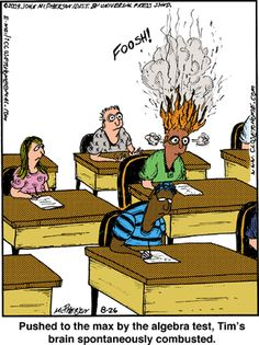 Algebra funny cartoons from CartoonStock directory - the world's largest on-line collection of cartoons and comics. Algebra Humor, Math Humor, Nerd Humor, Science Humor, Algebra 1, Nerd Jokes, Math Comics, Math Cartoons, Teacher Comics