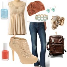 Country Chic fashion.  Supper cute shoes