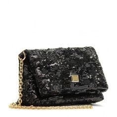 Dolce & Gabbana Sequin-Embellished Mini Handbag ($440) ❤ liked on Polyvore