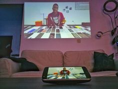 Watching @mkbhd on my wall with the @lenovo Moto Z Play projector.  #lenovo #motoz #motozplay #motomods #hellomoto #december #winter #android #smartphone #modular #gadgets #tech #technology #review #techreviewer #techblogger #blogger #belgianblogger