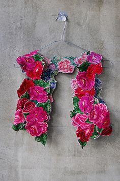 Waist coat, recycled embroidered guatemalan fabric by Barbara PM, via Flickr