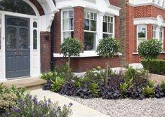 Front garden design in Turney Road, London, 2 – Front garden design in Turney Ro… Front Garden Ideas Driveway, Front Path, Front Yard Landscaping, Mulch Landscaping, Landscaping Ideas, Small Front Gardens, Back Gardens, Diy Garden, Terrace Garden