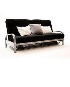 Black futon with arms