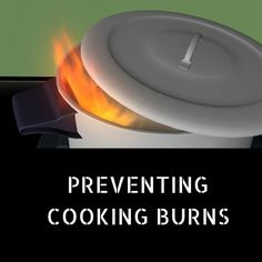 """""""If a fire does occur while you are cooking, the best way to put it out and prevent burns is to simply put a lid on top of the pot. Never use water on a kitchen fire. Call if the fire is out of control or has extended to the cabinets around the stove. Home Safety, Stove, Burns, Cabinets, Fire, Cooking, Water, Kitchen, Armoires"""