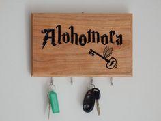 Harry Potter Alohomora Spell Key Rack Key by WoodDesigns4You