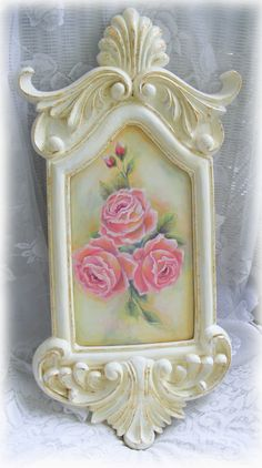 Shabby rose painting. Sold.