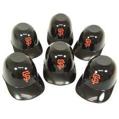 San Francisco Giants 8 oz. Mini Helmet Ice Cream (Ivory) Snack Bowls (6) SF Rawlings