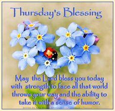 Thursday's Blessing