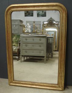 Gilt Louis Philippe antique French mirror from www.jasperjacks.com