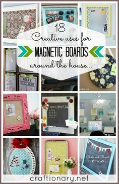 DIY magnetic boards (make magnetic boards). Make inexpensive magnetic boards at home using magnetic paint, steel, dollar store things and so much more. Magnetic Paint, Magnetic Boards, Decorative Magnetic Board, Cookie Sheet Crafts, Cookie Sheets, Layout Design, Diy Magnets, Idee Diy, Do It Yourself Home