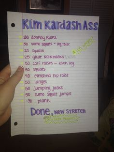 PIN NOW READ LATER!! Best workout combo! Do this Kim Kardashian inspired booty toner along with Blogilates afterwards! Don't know what Blogilates is?? Search up the website on google or look at her videos on YouTube! (: