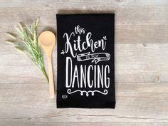 Tea Towel  Chalkboard Tea Towel With Hang Tab by KitchStudios