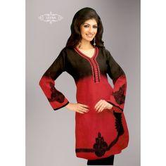 Red & Black Short #Kurti