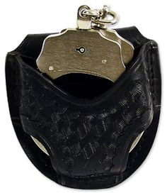 """The """"Open Cuff Case"""" features quick access and a belt slot made to fit 2 ¼"""" duty belt. Gun Holster, Leather Holster, Holsters, Radios, Handcuff Case, Sling Bow, Leather Working, Leather Craft, Guns"""
