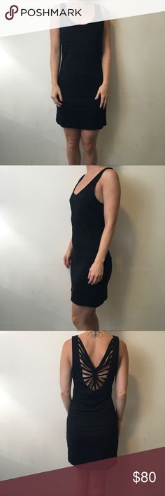 Free People Black Bodycon Lattice Caged Dress Free People Dress with no sleeves and is Bodycon style - awesome Lattice back with a Caged style and has been worn lightly a few times. Size medium. Free People Dresses